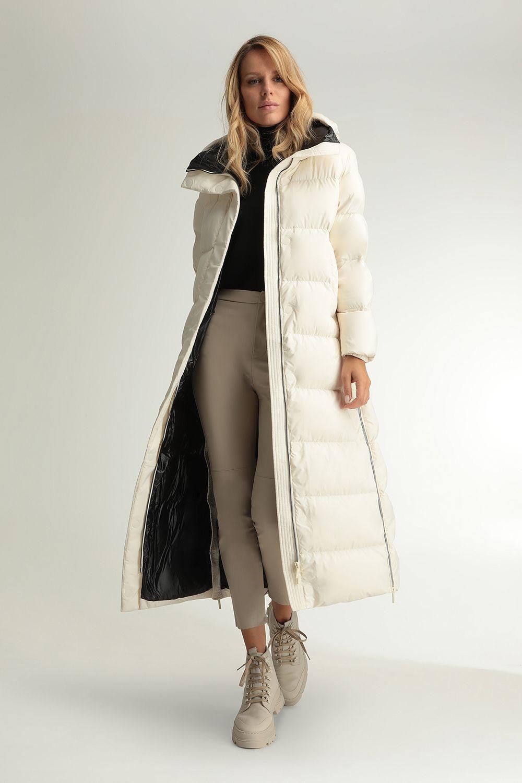 Helena white zipped coat