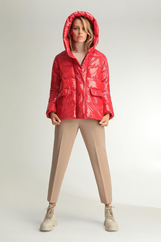 Cyrene red shiny jacket