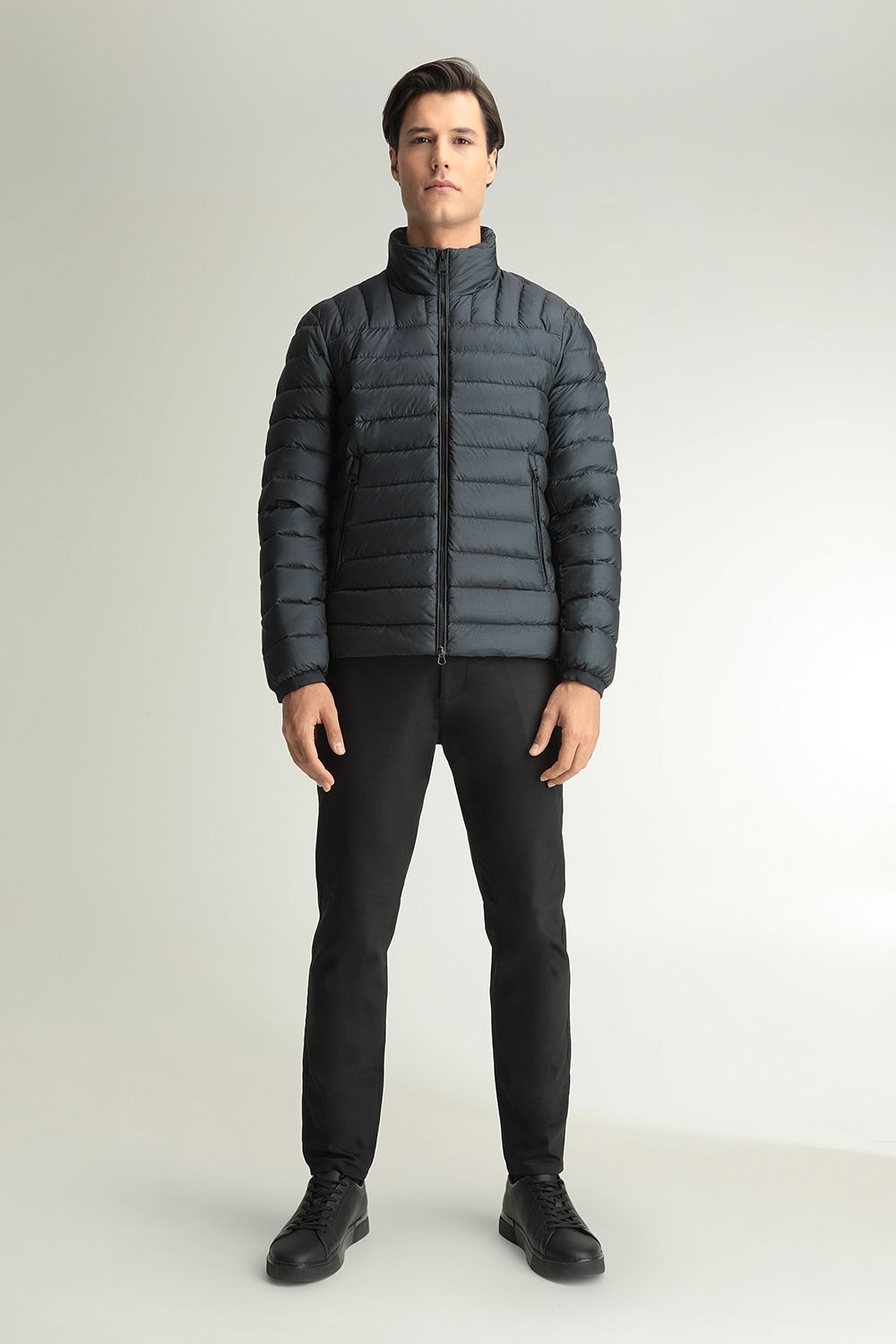 Quincy hooded blue jacket
