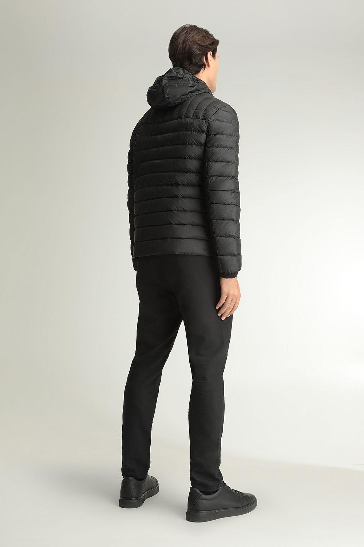 Quincy hooded black jacket