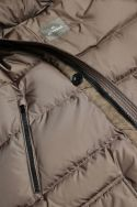 Windproof brown down jacket Andre
