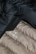 Basil navy blue goose down jacket with detachable hood