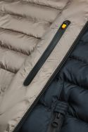 Navy blue down jacket with detachable hood