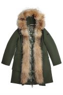 Green fur-trimmed parka Nansen