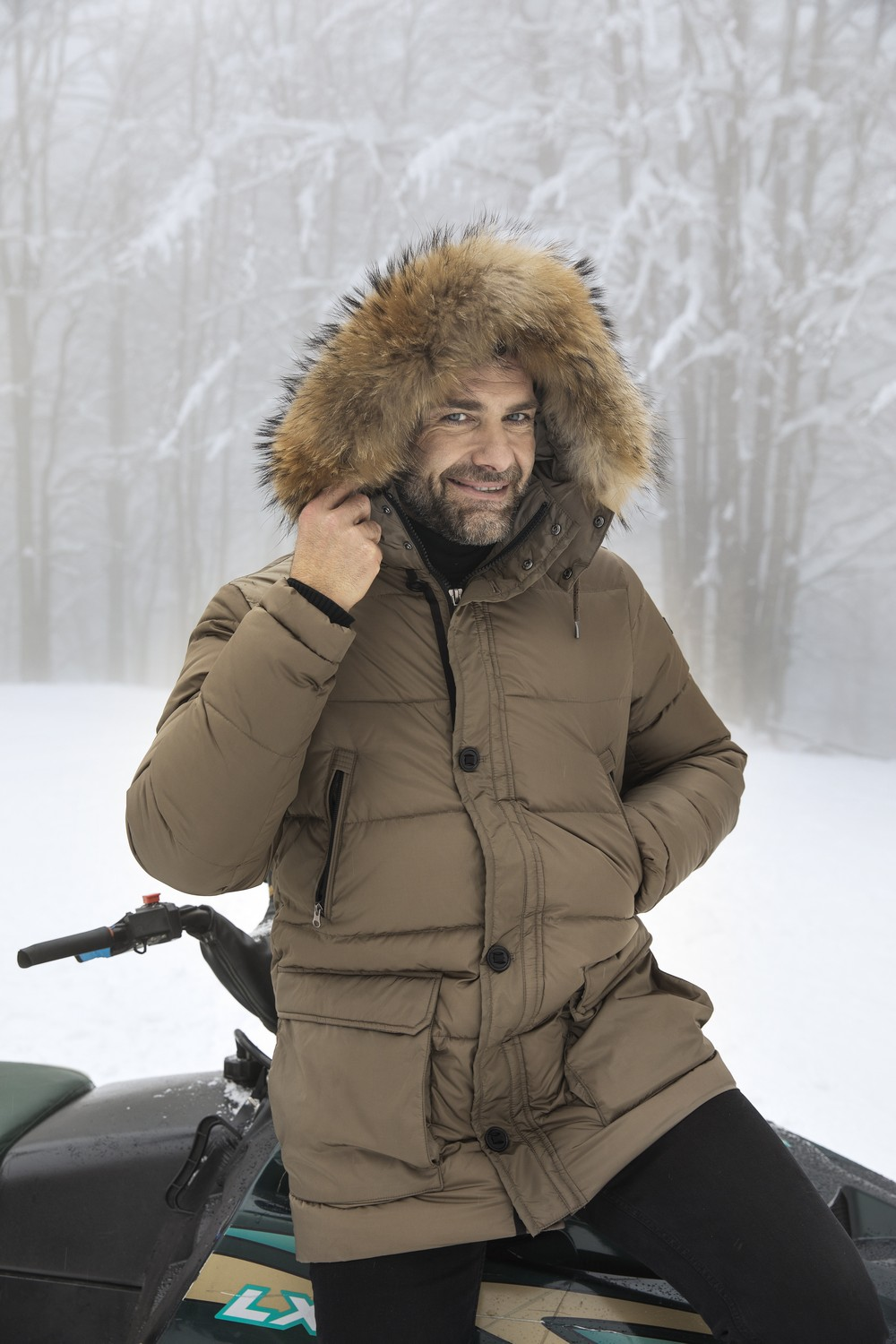 Andre Brown Down Jacket for Man